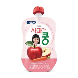 [슈퍼마트] 베베쿡 사과가 쿵 100ml