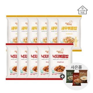 [천일식품] 천일 볶음밥 11봉 + 국밥 2봉 / 총13봉 새우,낙지,불고기,치킨