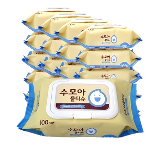 [티몬균일가] 수모아 캡형 물티슈 100매 20팩