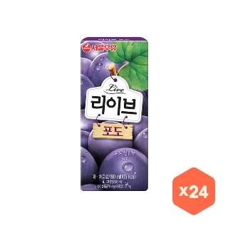[슈퍼마트]서울 리이브 포도 190ml*24