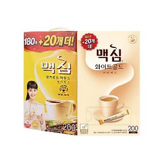[티몬균일가] 맥심 화이트골드 커피믹스 180T+20T 외 1종