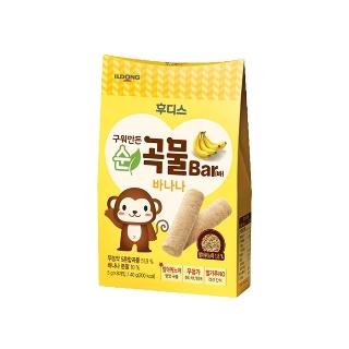 [슈퍼마트] 후디스 냠냠 구워만든 순곡물바 바나나 40g (1입/6입)