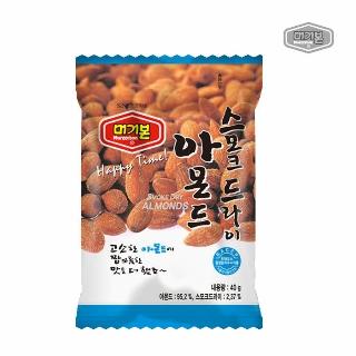 [슈퍼마트]머거본 스모크 드라이 아몬드 40g