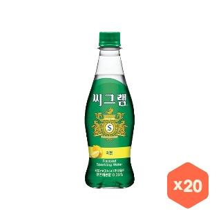 [슈퍼마트]씨그램 레몬 450ml x 20개