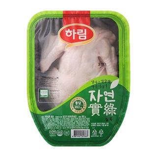 [슈퍼마트] 냉장 하림 무항생제 자연실록 통닭 950g(냉장)