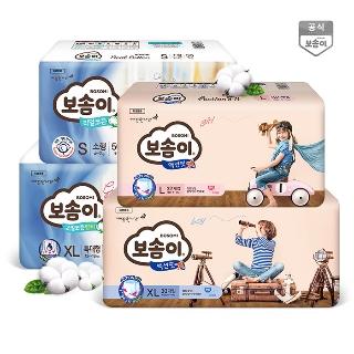 [티몬균일가] 보솜이 리얼코튼 밴드/팬티기저귀 4팩