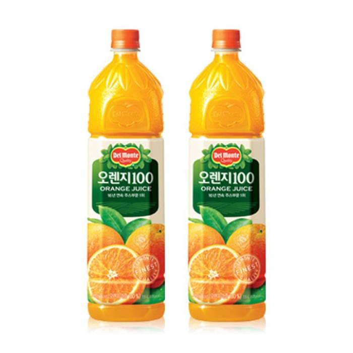 [롯데 델몬트] 오렌지100 주스 1.5L 12개
