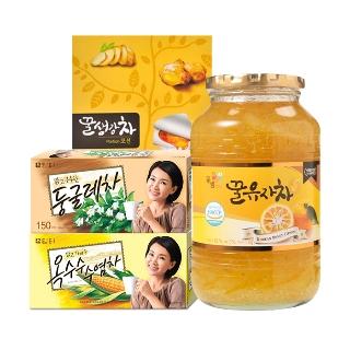 꽃샘 꿀유자차S 1kg+1kg 외 꽃샘/담터 19종
