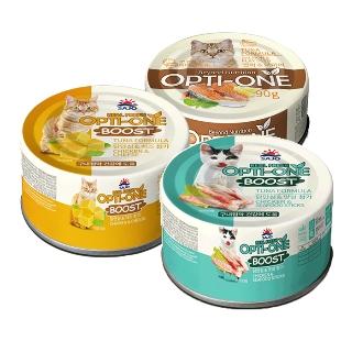 [티몬균일가] 옵티원 부스트 고양이 주식캔 닭안심과 치즈/맛살 24캔 + 간식캔 12캔