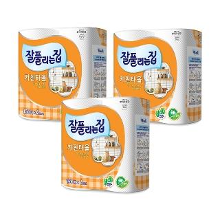[티몬균일가] 잘풀리는집 키친타올 150매*2롤 x3개