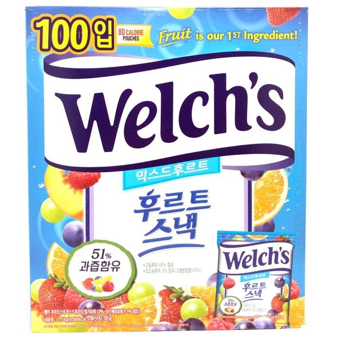 [웰치스] 믹스드 후르트 스낵 젤리 2.5kg 100봉