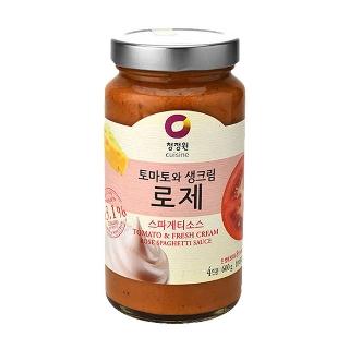 [슈퍼마트] 청정원 토마토와 생크림 로제 스파게티소스 600g (4인분)