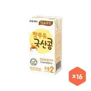 [슈퍼마트] 앱솔루트 첫두유 국산콩2 190ml*16팩