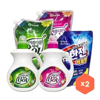 [슈퍼마트] 아름다운 세탁세제 BOL 2L x 2개