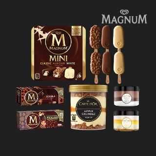 [퍼스트위크] 티몬블랙딜 유니레버 매그넘 까떼도르 인기상품 모음 최대 25개 세트 / 프리미엄 아이스크림 모음전