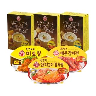 [티몬균일가] 오뚜기 칼칼한 돼지고기 김치찜 180gX3 외 9종
