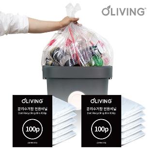 [특가위크] 타임어택 올리빙 1년3개월치 만수르 40L 분리수거 비닐봉투 200매