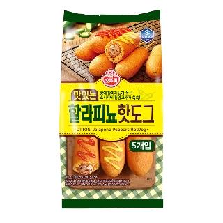 [슈퍼마트] 오뚜기 맛있는 할라피뇨 핫도그 400g